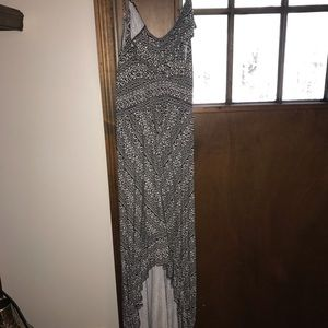High-Low Black & White Dress